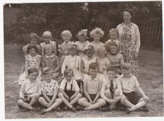 Ramsey Mereside School, Mrs Quincey with school children,1961