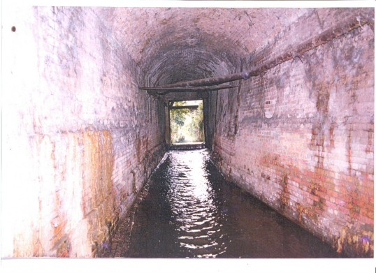 View of tunnel under Great Whyte