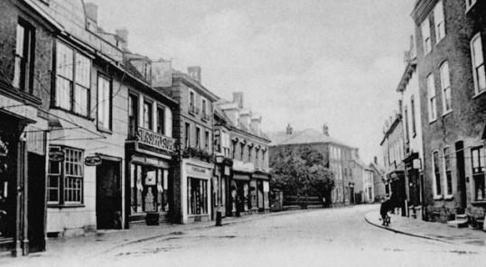 View of Ramsey High Street looking towards Bury