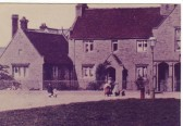 View of Almshouses from Church Green in Ramsey circa 1900