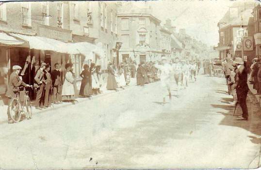 Street parade along High Street, Ramsey