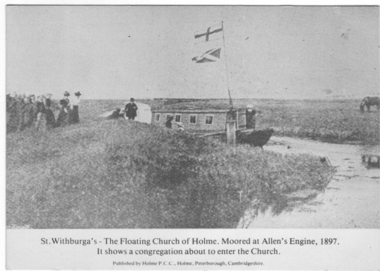 St.Withburga's -The Floating Church - moored at Allen's Engine, Ramsey