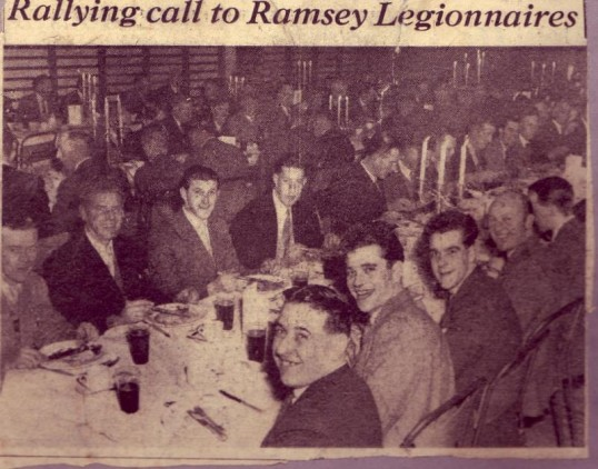 Dinner of the Royal British Legion, Ramsey branch.
