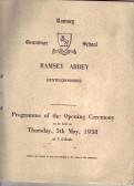 Opening of Ramsey Grammar School at Ramsey Abbey