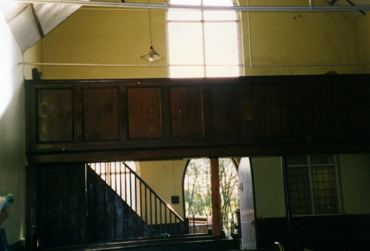 Inside Ramsey Heights Methodist church