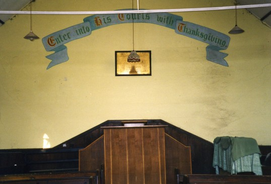 Inside Ramsey Heigths Methodist church