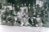 Ladies outside the Ramsey Heights Methodist church