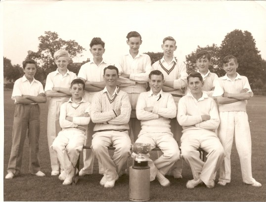 Ramsey Minors Cricket team with Smith Barry Minors Cup