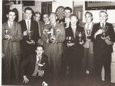 Oddfellows Pub darts team, Coronation Cup County Finals winners 1962/63