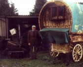 Tom Setchell with one of his Gypsy Caravans