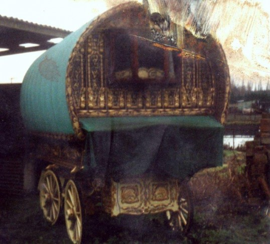 Gypsy Caravan at the yard of Tom Setchell at Harpers Drove Ramsey Heights