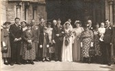 Wedding of Peter Chamberlain and Edith Chatfield at Thomas a Becket Church, Ramsey