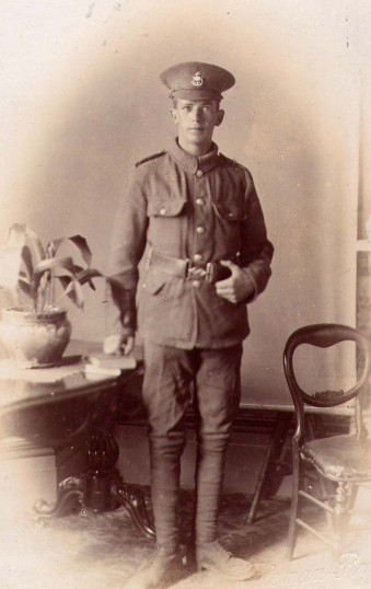Pte. Jim Burton soldier in the Great War