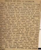 Great War Obituary of Pte S Burton