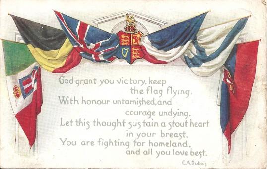 Great War. A postcard sent by Pte. J. Burton