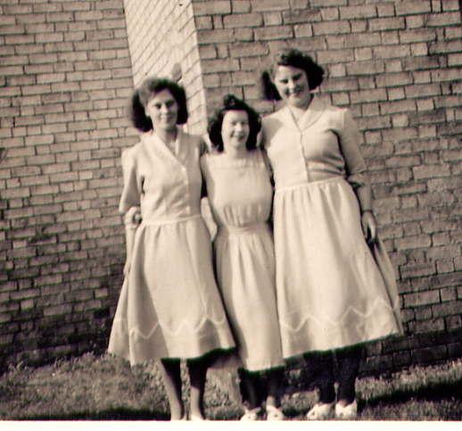 Kath Abbott, Dorothy Bishop and Phylis Abbott.