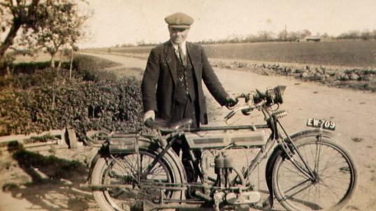 Arthur Bishop and Motorbike