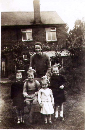 Mrs Holmes and daughters.