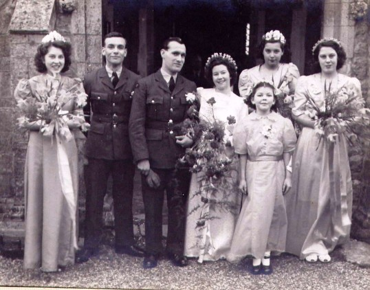 Wedding of Dennis Day and Dorothy Bishop.