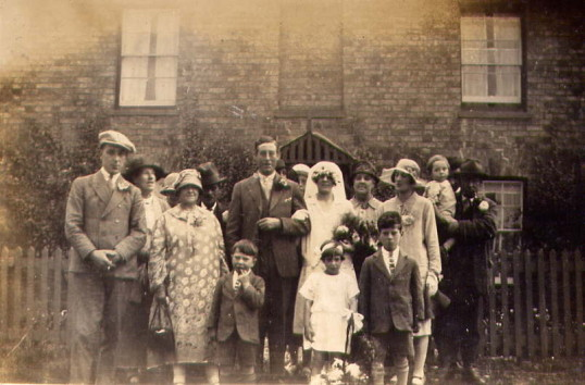 Wedding of Burt and Dora Bishop