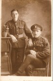 Private Fredrick Tye MM and friend