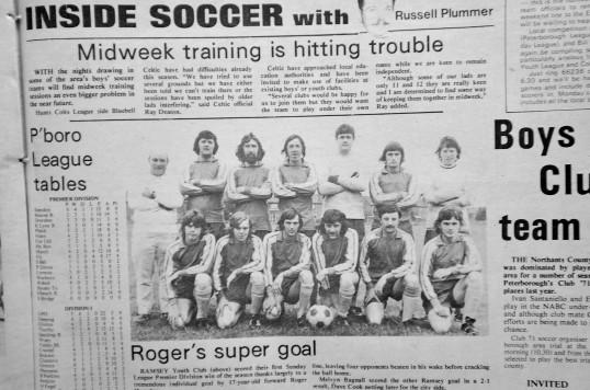 Ramsey Youth ClubTeam circa 1970