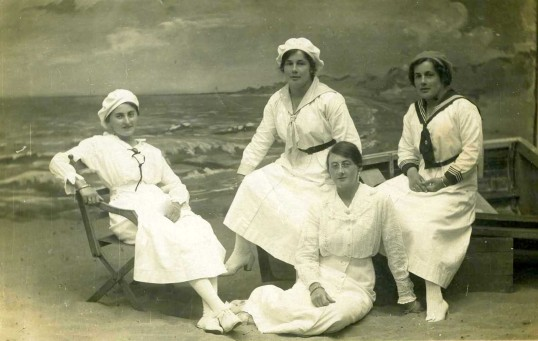 Sailor Girls from Ramsey at the Sea-side