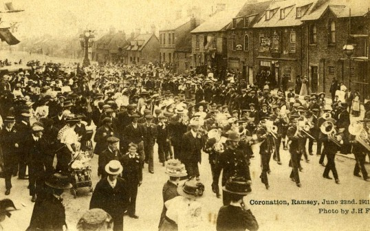 Coronation Parade in Ramsey 1911