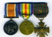 Great War Medals of George Swearer from Ramsey.