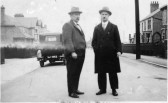 Nev Swearer and Archie Palmer in Blenheim Road, Ramsey (1924-1934)