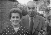 Jack and Nell Kirby at Blenheim Road, Ramsey