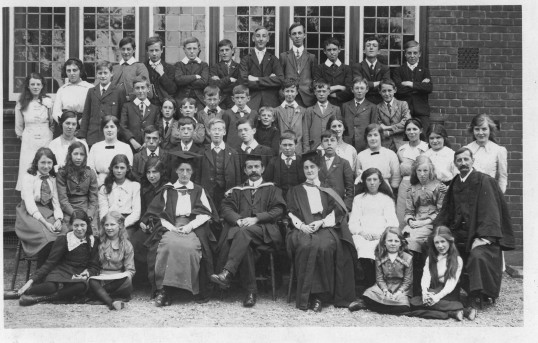 The Ramsey Grammar School Staff and Pupils (circ 1913)