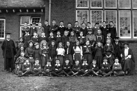 Staff and Pupils of the New Grammar School High Street, Ramsey
