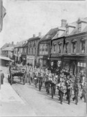 Volunteers Marching to Camp Along High Street Ramsey