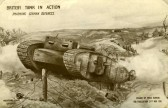 Postcard of a 1916 Tank sent By George Swearer of Ramsey