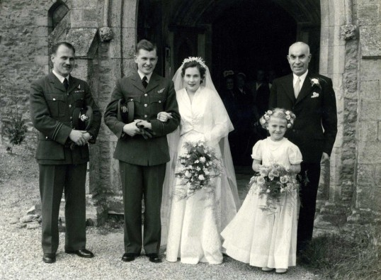Wedding of Mary Kirby and W.J.(Bill) Beacham at Bury Church