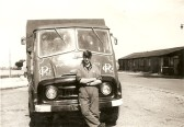 Norman Papworth with G.G.Papworth Ltd lorry at Ramsey Mereside 1963/64