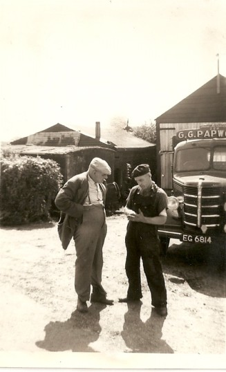A E Papworth of Ramsey Mereside with Ralph Bannister from Gt Ravely