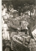 Norman Papworth dressed as a Barrow Boy at Ramsey Mereside Fete