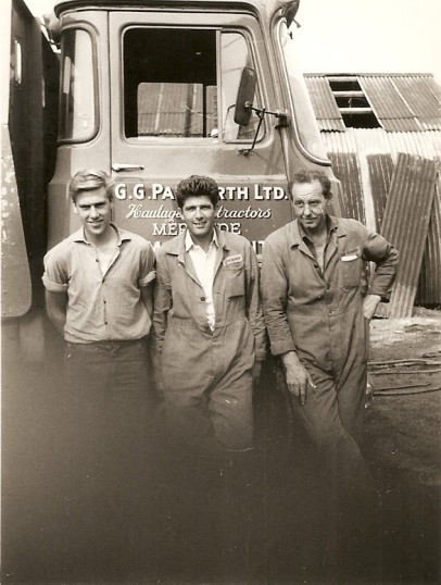Les Complin, Dereck Barnaed & Norman Papwworth with G.G.Papworth Ltd of Ramsey Mereside lorry