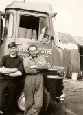 Norman Papworth & Alf Luth wiyh G.G.Papworth Ltd of Ramsey Mereside lorry