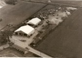 Ariel view of G.G.Papworth Ltd Yard and Village Hall in Ramsey Mereside