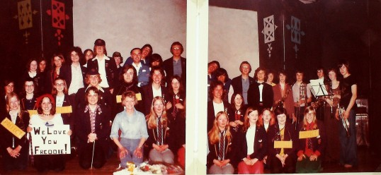 Ramsey Abbey School Sixth Form Grasp Review 1974. The Cast