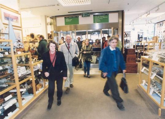 Last Day in the Robert Sayle St Andrews Street  Store. Door into gift department