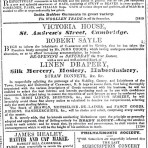 Early advert  for Victoria House