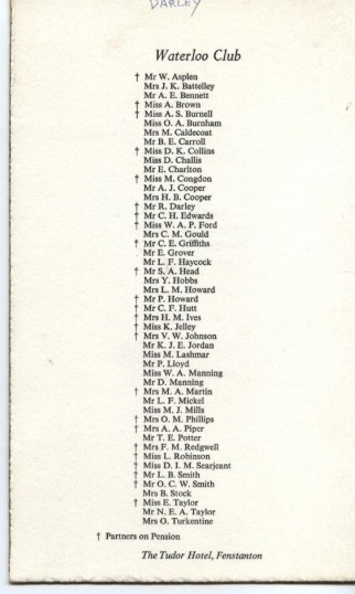Waterloo Club/25year List of Robert Sayle Members in 1993