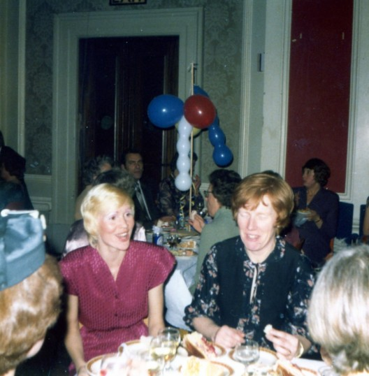 Jeanette Blackwell and Carolla Wright at a celebration meal