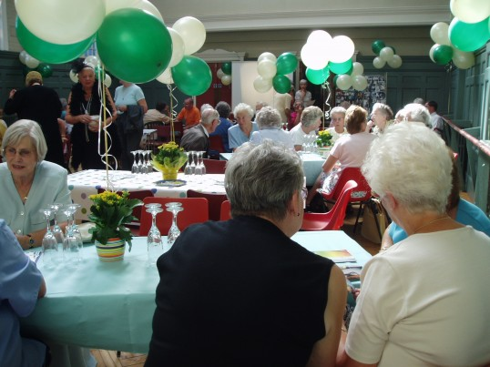 Robert Sayle pensioners 75th Anniversary Celebrated with afternoon tea.