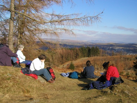 Rambling Club looking down over Ambleside