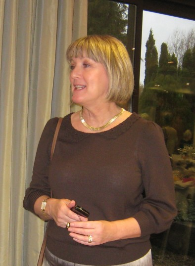 Janet Gardner at Christmas lunch